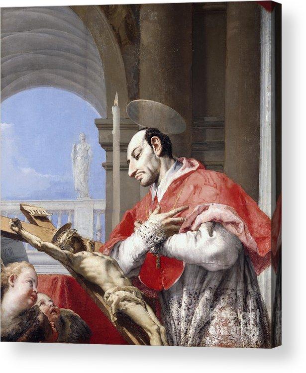 Saint Acrylic Print featuring the painting Saint Charles Borromeo by Giovanni Battista Tiepolo