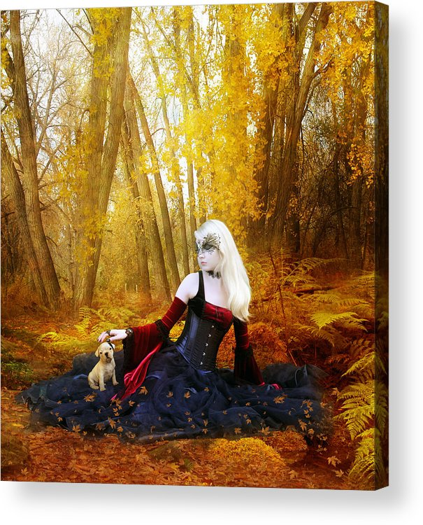 Woman Acrylic Print featuring the digital art Warm Friends by Mary Hood