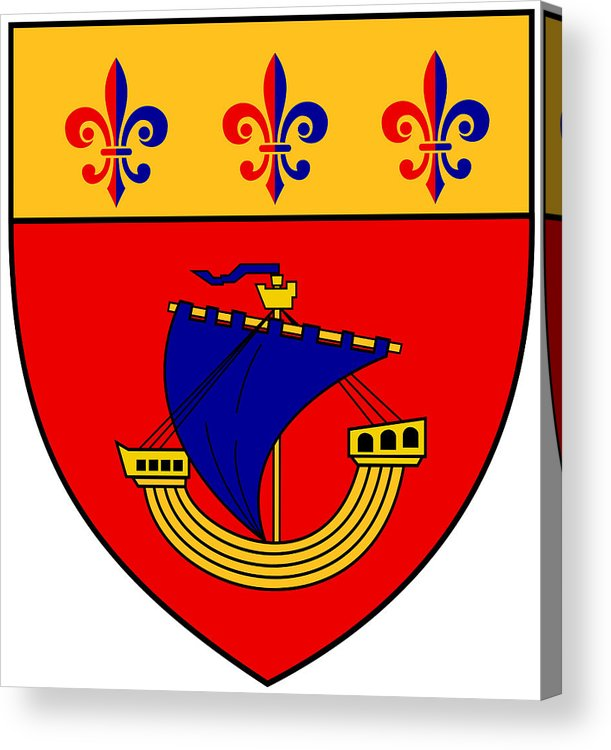 Vessel Acrylic Print featuring the digital art Inspired By The Vessel And The Coat Of Arms by Asbjorn Lonvig