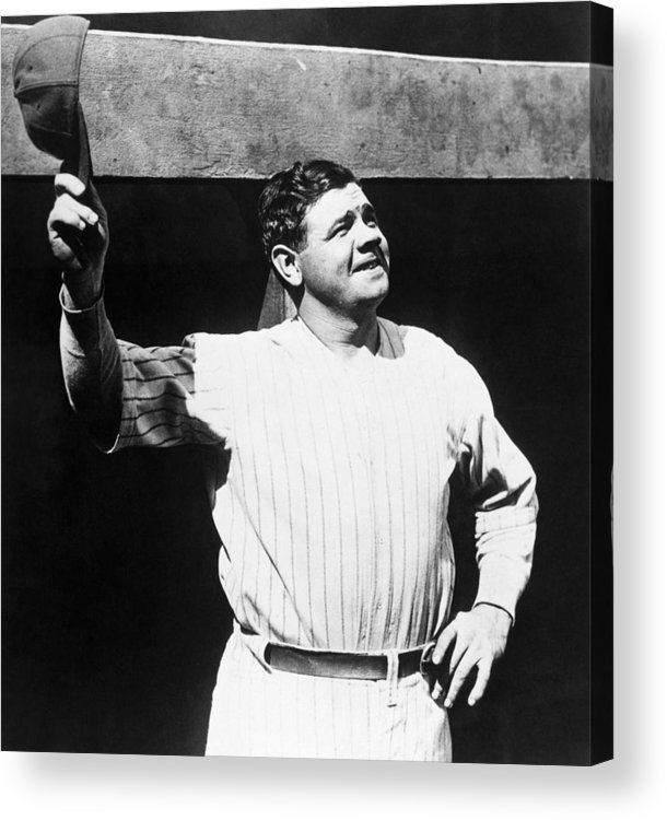 1930s Candid Acrylic Print featuring the photograph Babe Ruth 1895-1948, American Baseball by Everett