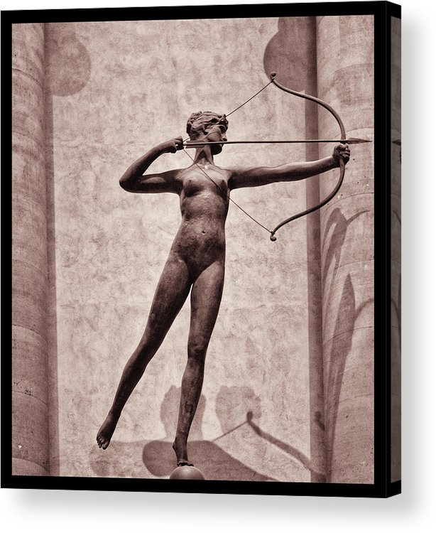 Madison Square Garden Acrylic Print featuring the photograph Diana - Goddess Of Hunt by Bill Cannon
