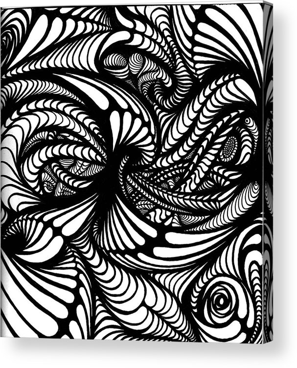 Abstract/ Drawings Acrylic Print featuring the drawing Hole by Jeff DOttavio