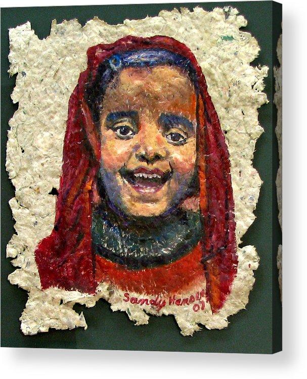 Joy Acrylic Print featuring the painting Joy by Art Nomad Sandra Hansen