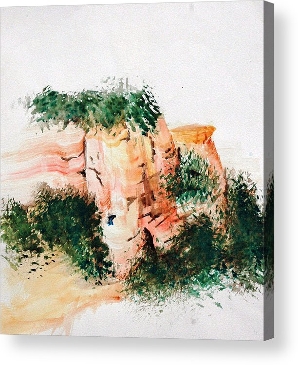 Landscape Acrylic Print featuring the painting Outside Sedona by David Keene