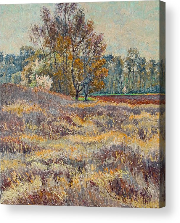 Landscape Acrylic Print featuring the painting Springtime by Vitali Komarov