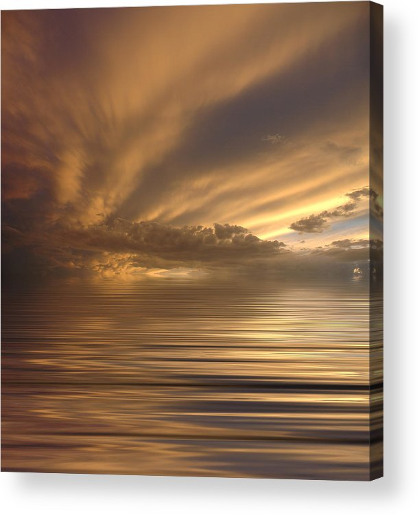Sunset Acrylic Print featuring the photograph Sunset At Sea by Jerry McElroy