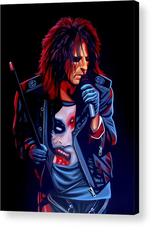 Alice Cooper Acrylic Print featuring the painting Alice Cooper by Paul Meijering