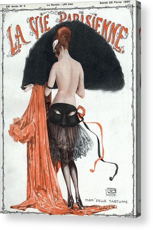 1920�s Acrylic Print featuring the drawing La Vie Parisienne 1920 1920s France by The Advertising Archives