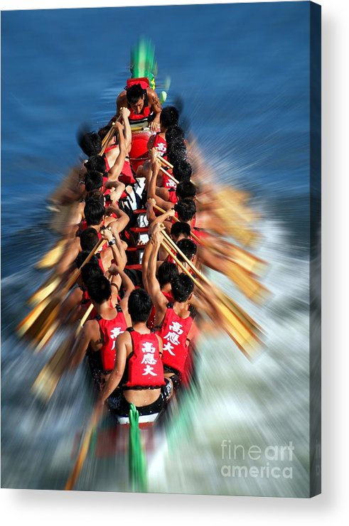 Kaohsiung Acrylic Print featuring the photograph The 2013 Dragon Boat Festival In Kaohsiung Taiwan by Yali Shi