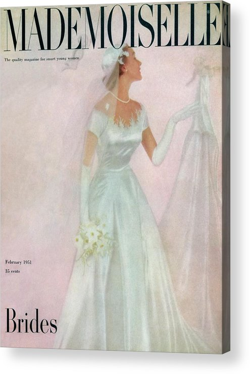 Fashion Acrylic Print featuring the photograph A Bride Wearing A Mindelle Dress by Somoroff