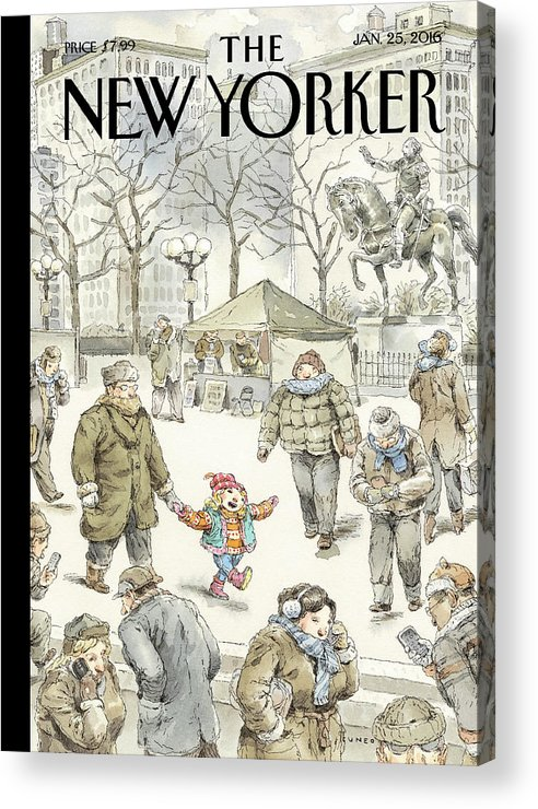Child Acrylic Print featuring the painting Winter Delight by John Cuneo