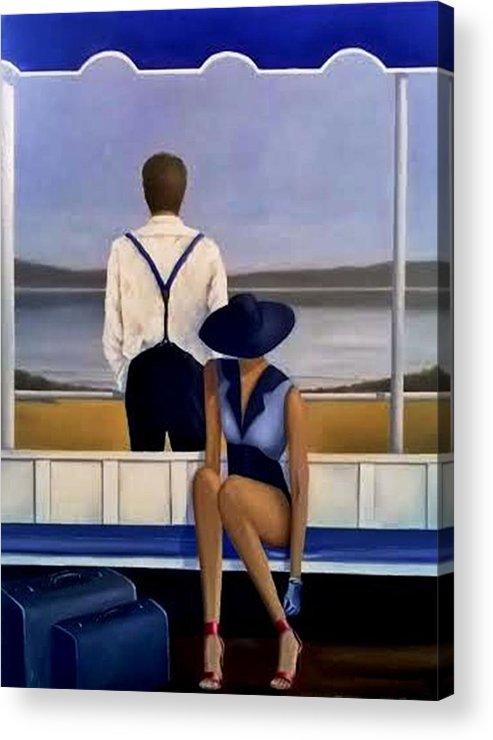 Oil On Canvas - A Moment Of Reflection Acrylic Print featuring the painting A Moment Of Reflection by Tony Gittins