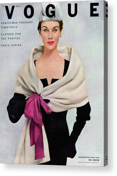 Fashion Acrylic Print featuring the photograph A Vogue Cover Of A Woman Wearing Balenciaga by Frances Mclaughlin-Gill