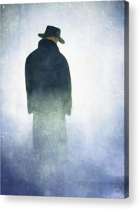 Man Acrylic Print featuring the digital art Alone In The Fog by Gun Legler