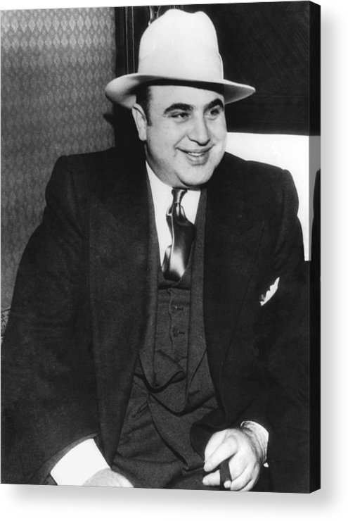 1035-790 Acrylic Print featuring the photograph American Gangster Al Capone by Underwood Archives