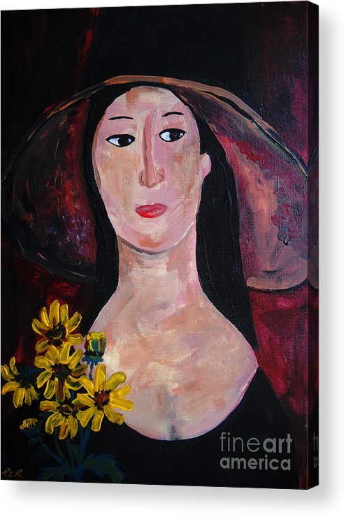 Woman Acrylic Print featuring the painting Anna by Reina Resto