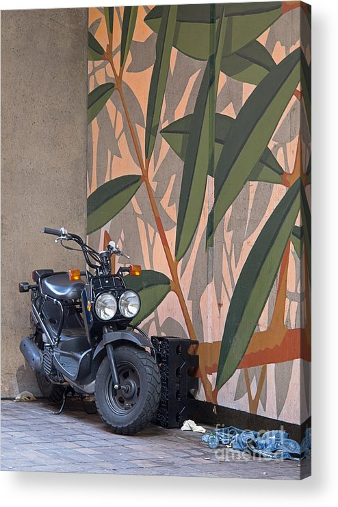 Motorcycle Acrylic Print featuring the photograph Artsy Parking Space by Ann Horn