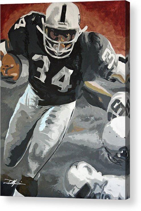 Bo Jackson Acrylic Print featuring the drawing Bo Jackson by Don Medina