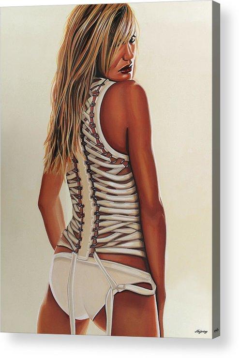Cameron Diaz Acrylic Print featuring the painting Cameron Diaz Painting by Paul Meijering