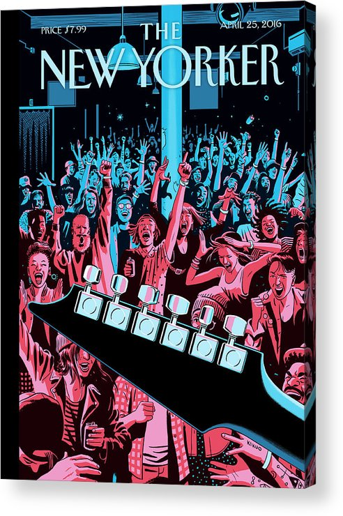 Closing Set Acrylic Print featuring the painting Closing Set by R Kikuo Johnson