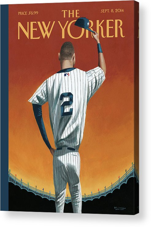 Retirement Acrylic Print featuring the painting Derek Jeter Bows Out by Mark Ulriksen