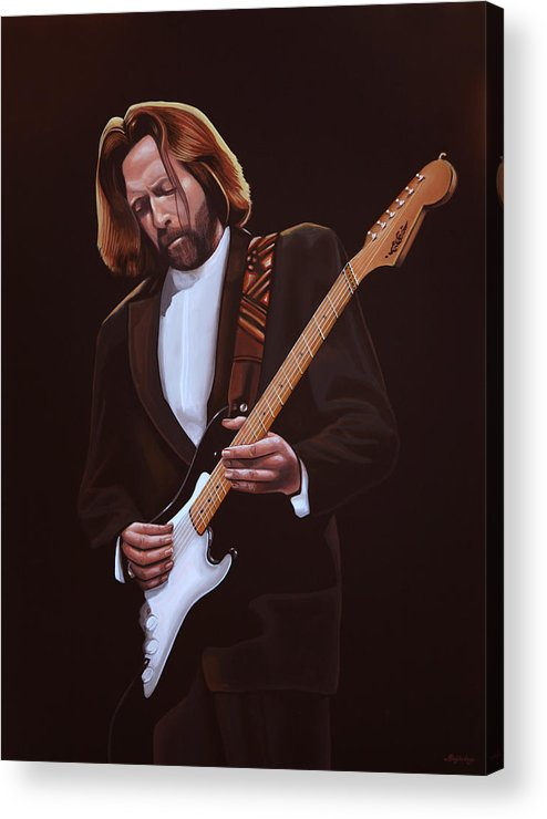 Eric Clapton Acrylic Print featuring the painting Eric Clapton Painting by Paul Meijering