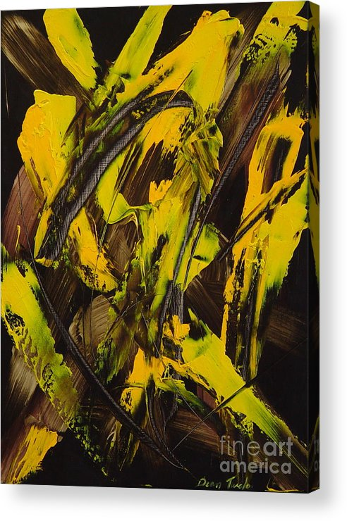Abstract Acrylic Print featuring the painting Expectations Yellow by Dean Triolo