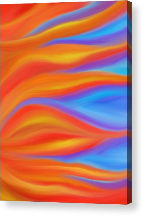 Fire Acrylic Print featuring the painting Firelight by Daina White