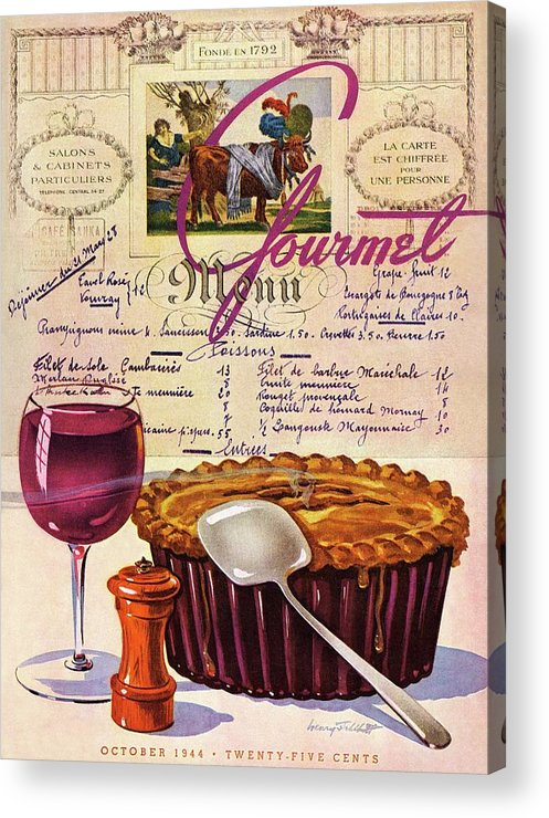 Food Acrylic Print featuring the photograph Gourmet Cover Illustration Of Deep Dish Pie by Henry Stahlhut