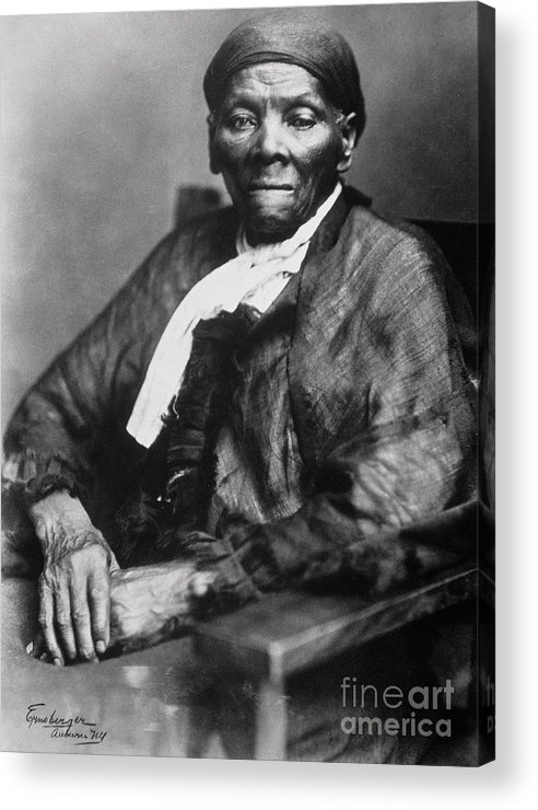 Female Acrylic Print featuring the photograph Harriet Tubman by American School