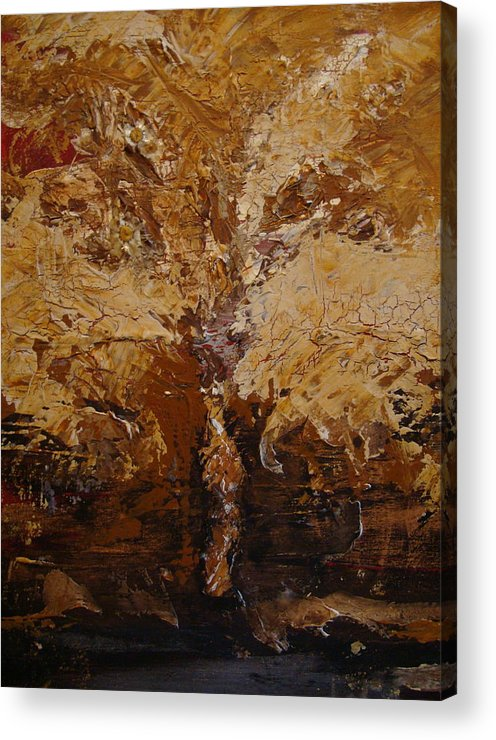 Tree Acrylic Print featuring the painting Harvest by Holly Picano