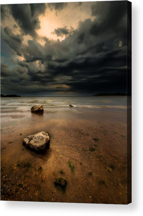 Landscape Art Prints Acrylic Print featuring the photograph Lake And Clouds by Garett Gabriel