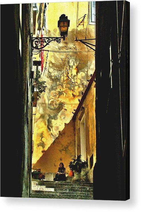 Arab Quarter Acrylic Print featuring the photograph Lisbon Alley by Bill Marder
