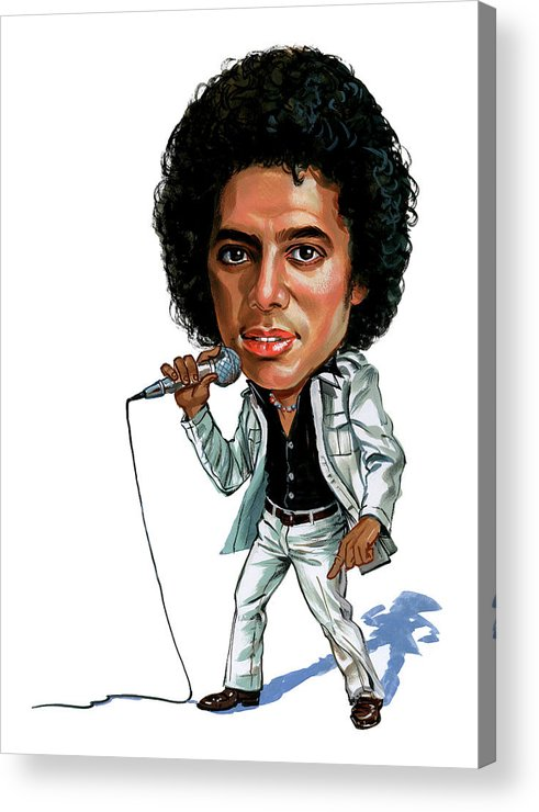 Michael Jackson Acrylic Print featuring the painting Michael Jackson by Art