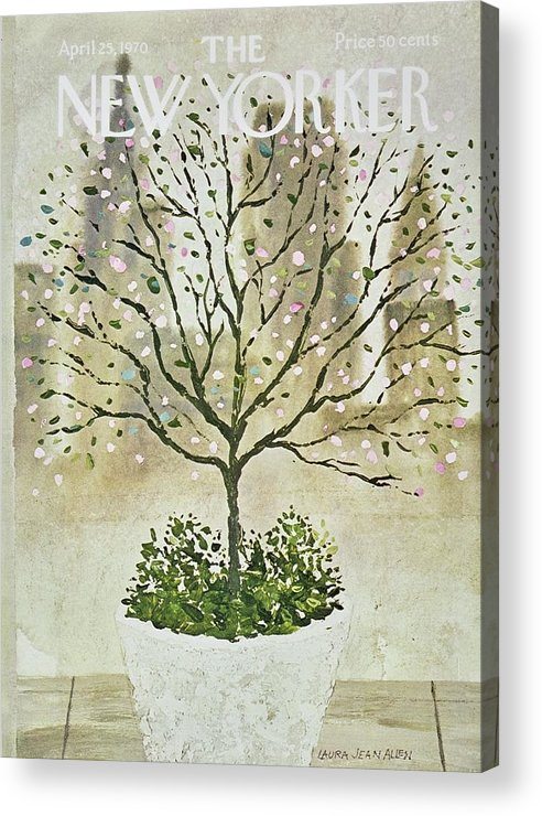 Illustration Acrylic Print featuring the painting New Yorker April 25th 1970 by Laura Jean Allen