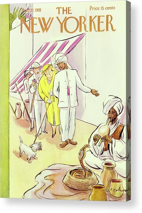 Illustration Acrylic Print featuring the painting New Yorker August 22 1931 by Helene E Hokinson