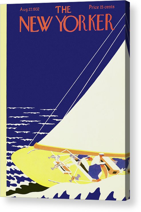 Illustration Acrylic Print featuring the painting New Yorker August 27 1932 by S. Liam Dunne