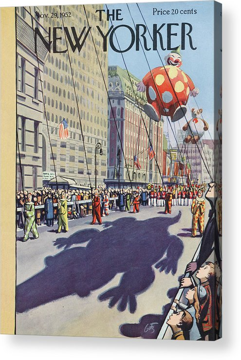 Party Acrylic Print featuring the painting New Yorker November 29th, 1952 by Arthur Getz