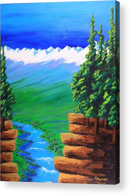 Landscape Acrylic Print featuring the painting Open My Eyes Lord by Gary Rowell