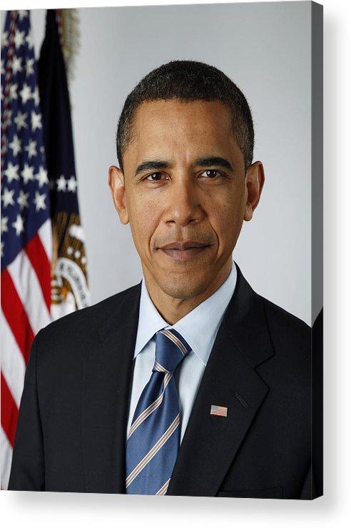 Obama Acrylic Print featuring the digital art President Barack Obama by Pete Souza