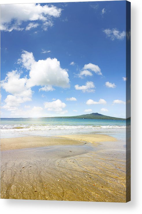 Beauty In Nature Acrylic Print featuring the photograph Rangitoto Island by Les Cunliffe