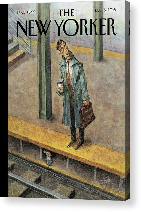 Commuter Returning From Rat Race >> Rat Race Acrylic Print By Peter De Seve