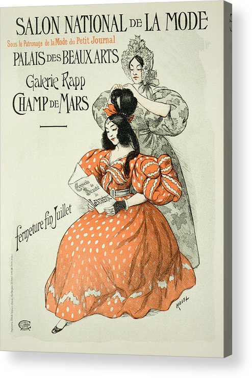 Advert Acrylic Print featuring the drawing Reproduction Of A Poster Advertising by Roedel