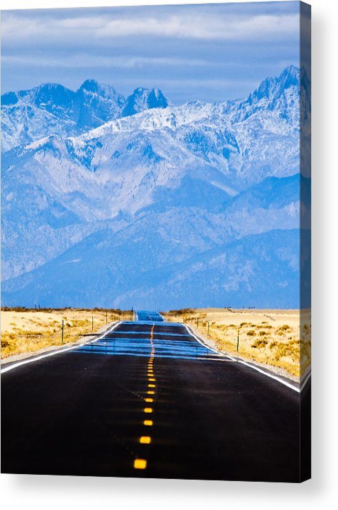 Mountains Acrylic Print featuring the photograph Road To The Mountains by Alexis Birkill