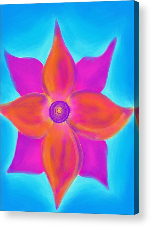 Spiral Acrylic Print featuring the painting Spiral Flower by Daina White