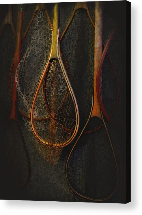 Fishing Acrylic Print featuring the photograph Still Life - Fishing Nets by Jeff Burgess