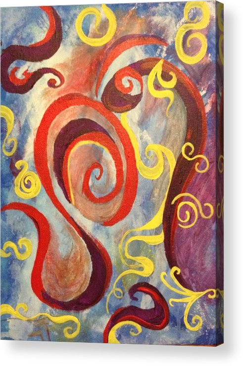 Abstract Acrylic Print featuring the painting Swirly by Jennifer Henson