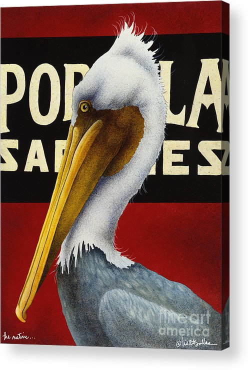 Will Bullas Acrylic Print featuring the painting The Native... by Will Bullas