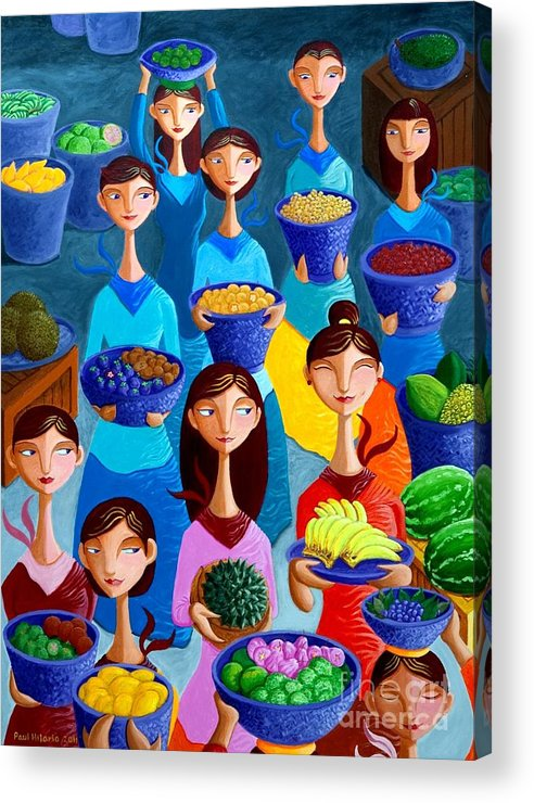 Fruits Acrylic Print featuring the painting Tutti Frutti by Paul Hilario