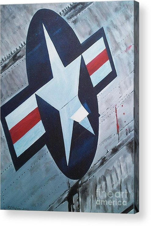 Us Air Force Acrylic Print featuring the painting Us Air Force by Richard John Holden RA